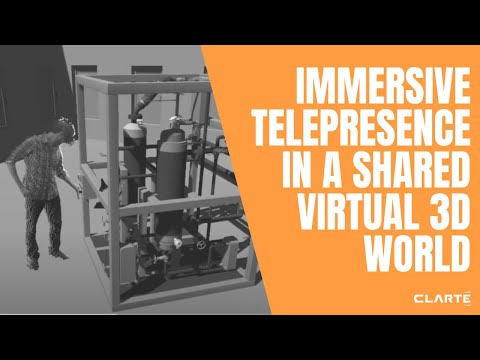 Immersive telepresence in a shared virtual 3D world