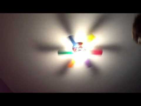 Latex vortex rainbow ceiling fan - YouTube