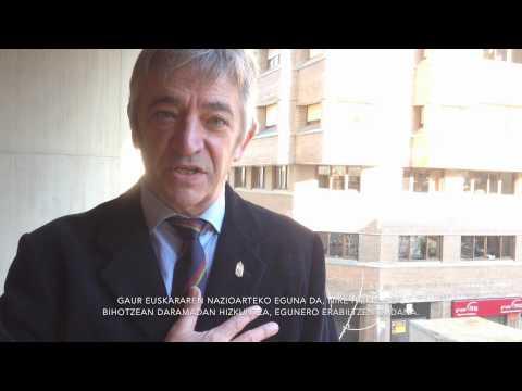 Videoblog Koldo Martínez: congratulations, Euskera (English)