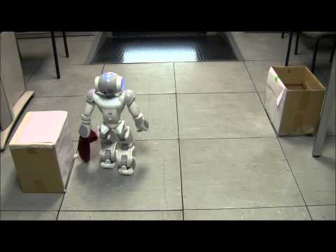 Nao robot solving a pick up task using Automated Planning and Computed Vision (Experiment 1A)