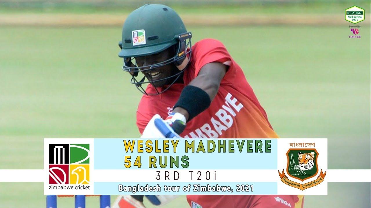 Wesley Madhevere's 54 Runs Against Bangladesh | 3rd T20i | Bangladesh tour of Zimbabwe 2021