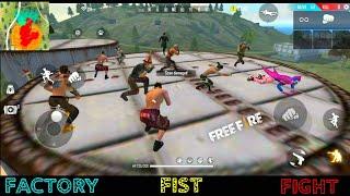 GARENA FREE FIRE FACTORY FIGHT BOOYAH 5 - FF FIST FIGHT ON FACTORY ROOF - FACTORY FREE FIRE VIDEO TO