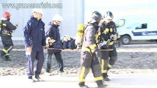 Simulacro de incendio y herido en la Subestación La Paterna