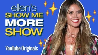 Heidi Klum Watches Her Past Ellen Appearances