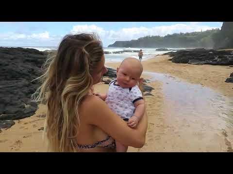 Family beach day on Kauai