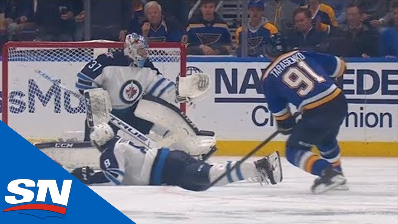Vladimir Tarasenko Rifles Power Play Goal By Connor Hellebuyck