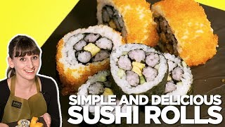 Learning How To Make Flower Sushi Rolls in Tokyo