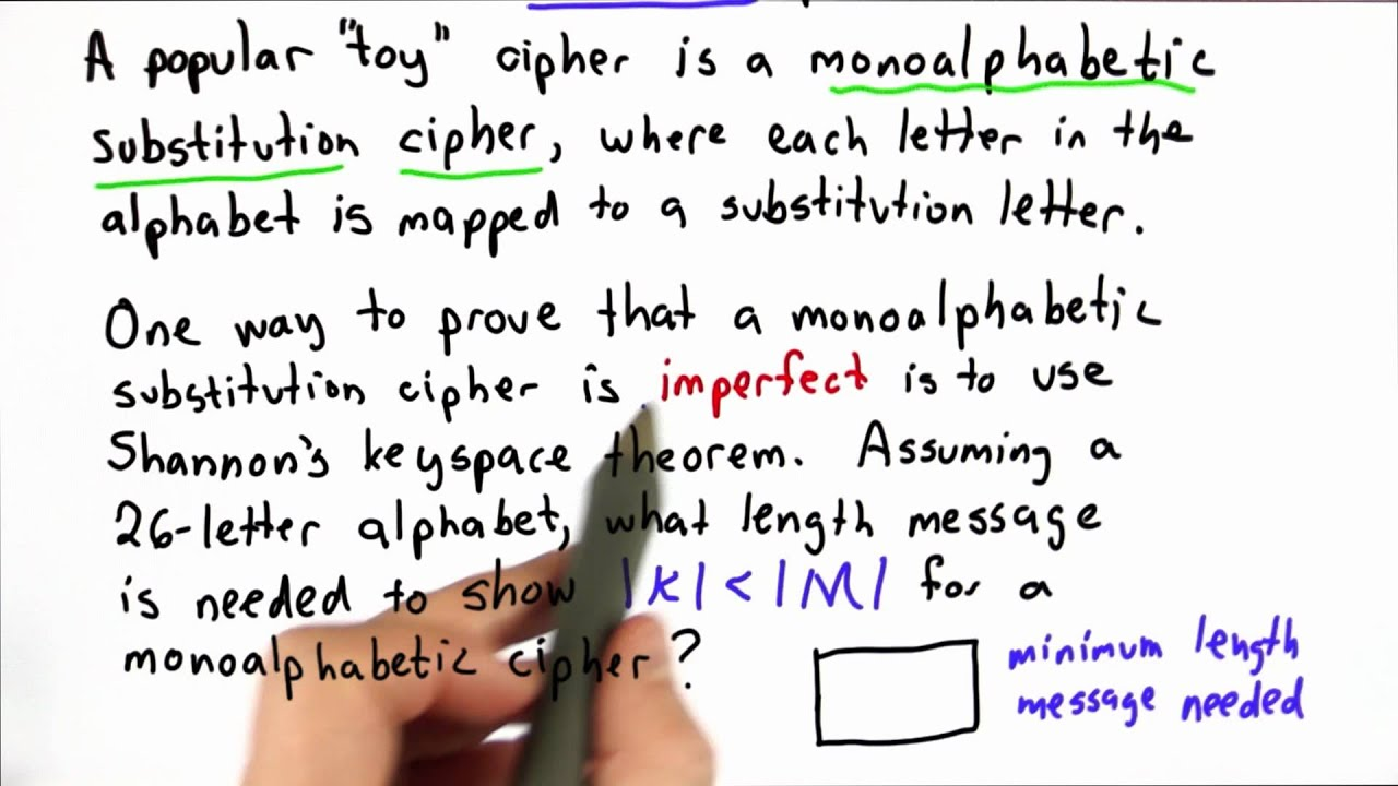 Toy Substitution Cipher 1 - Applied Cryptography