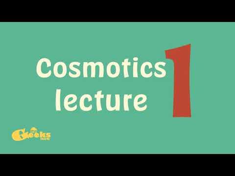 Cosmetics lecture 1