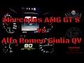 Mercedes AMG GT S VS ALFA ROMEO GIULIA QUADRIFOGLIO acceleration - NEW Head2Head! SERIES