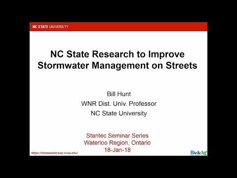 Stormwater management on streets