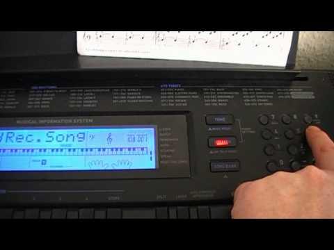 casio Wk 500 save recording to smf
