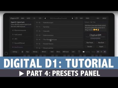 AudioKit Digital D1 Tutorial: Part 4 - Presets Panel
