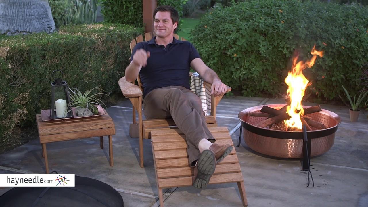 Belham Living Hampton Oak Wood Deluxe Adirondack Chair   Product Review  Video