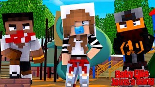 BABY ELLIE JOINS A GANG IN KINDERGARTEN! | Minecraft Little Kelly