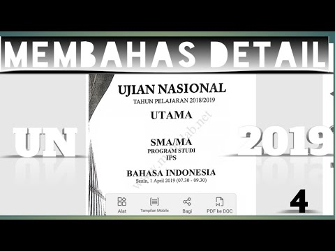 Pembahasan Soal UN Bahasa Indonesia Sma/ma 2019