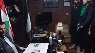 الدكتور علي حرقوص الأمين العام للحزب العربي الأشتراكي يسلم البطاقات الحزبية للرفاق في شعبة الضاحية