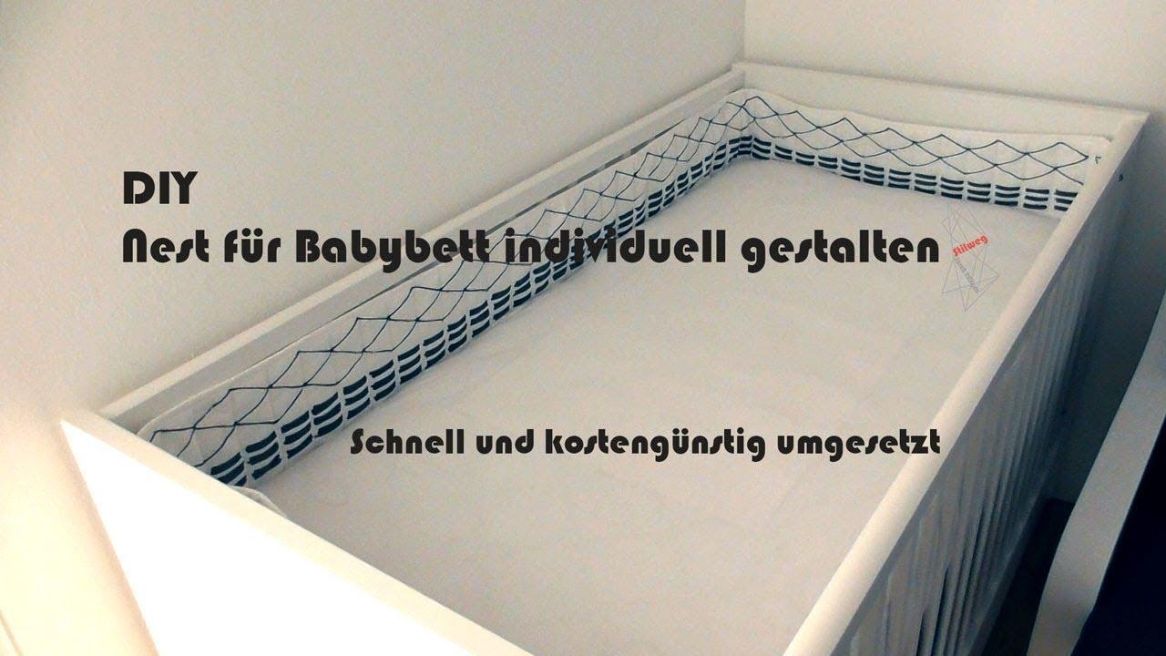 diy bettumrandung nest f rs babybett kinderbett gestalten youtube. Black Bedroom Furniture Sets. Home Design Ideas