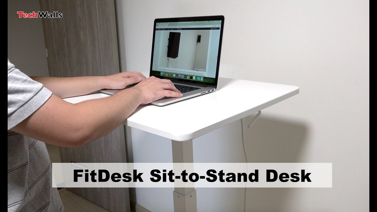 Fitdesk Sit To Stand Height Adjule Desk Unboxing Testing