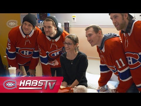 Canadiens visit Montreal children's hospitals