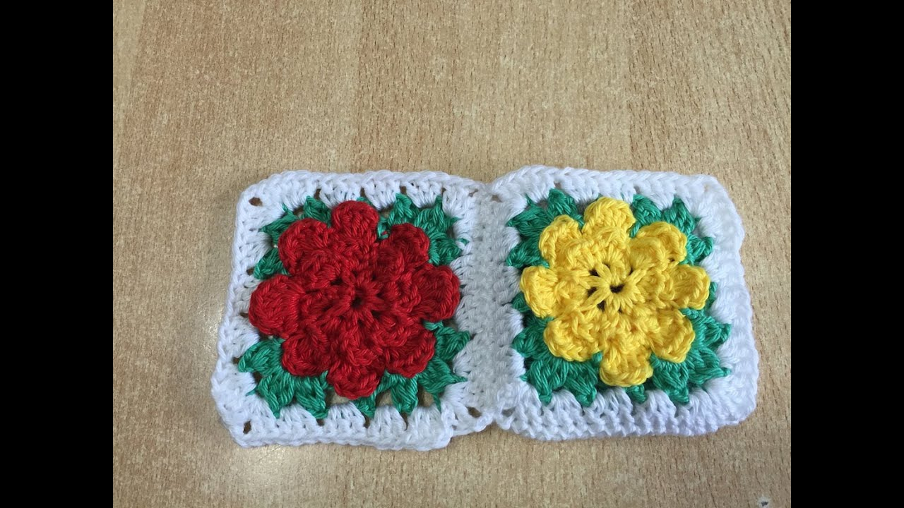Tuto granny fleur au crochet youtube for Qui portent des crochets
