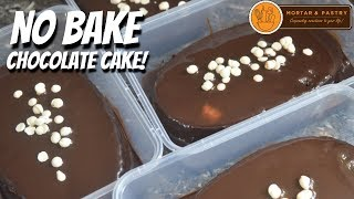 NO BAKE CHOCOLATE CAKE! | with Homemade Chocolate Sauce | Ep. 52 | Mortar and Pastry