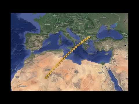 Algeria Tunisia Italy Greece (15x speed)