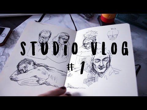 Studio Vlog #1 // working on zine, digital art & struggles