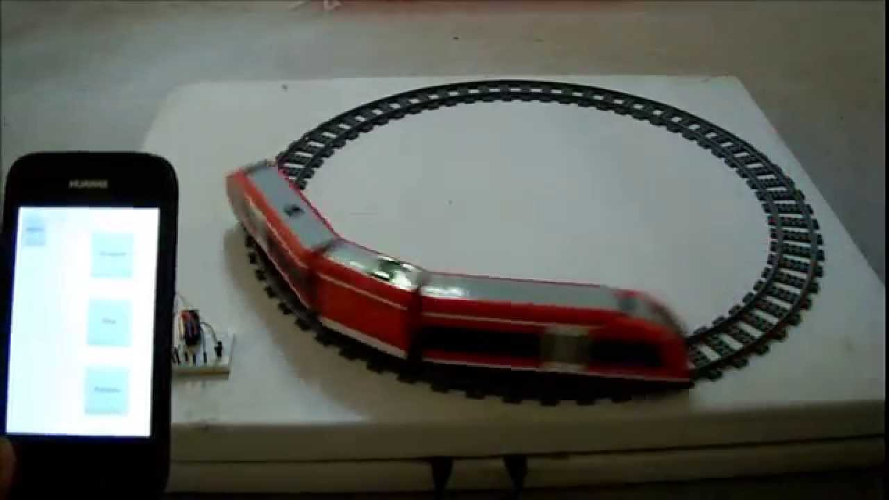 Lego power functions train control by arduino android