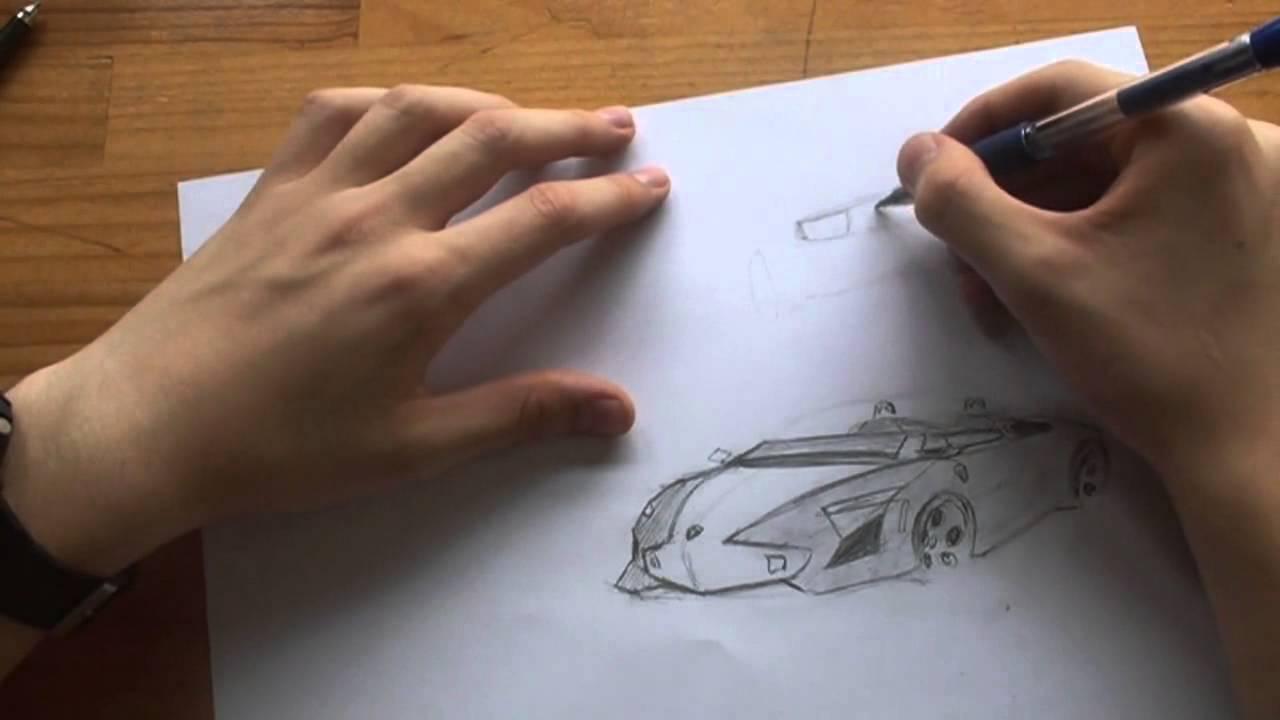 Cómo dibujar y diseñar coches | LAMBORGHINI - YouTube
