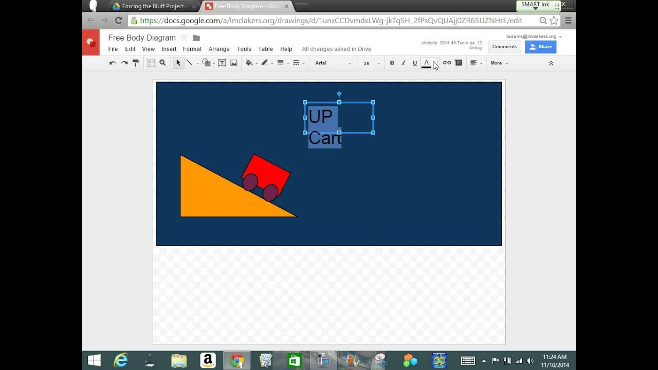 physics how to draw a free body diagram using google drawingsphysics how to draw a free body diagram using google drawings