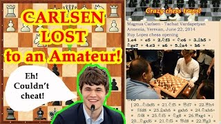 Magnus Carlsen lost chess game to an Amateur!