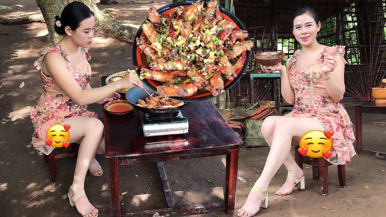 Shrimp Mixed With Potato Chips/Tôm Trộn Khoai Tây Chiên/Beautiful Girl Cooking