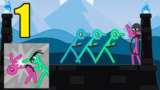 Slapstick Fighter Stickman Ragdoll Fighting Game - All Levels 1-7 - Gameplay (Android, iOS) Part 1 screenshot 5