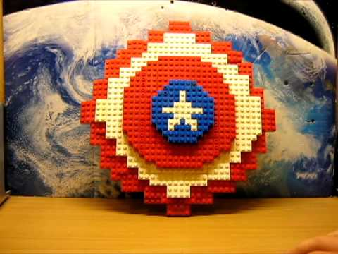 Lego captain america shield youtube - Lego capitaine america ...