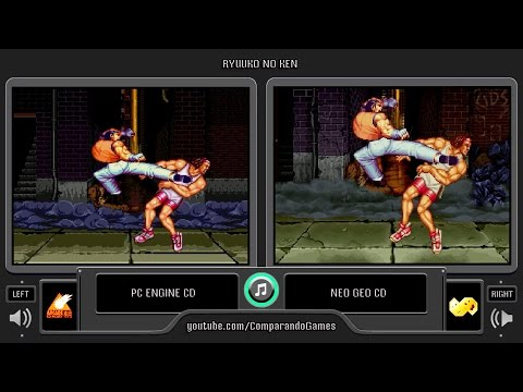 Ryuuko no Ken (Pc Engine Cd vs Neo Geo Cd) Side by Side Comparison (Art of fighting 1)