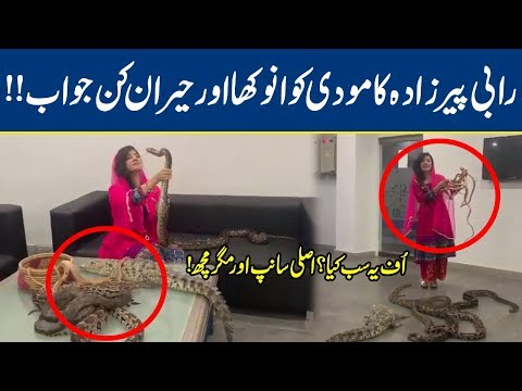 Watch: Rabi Pirzada Snake Video Goes Viral *Gone Crazy* | Lahore News HD