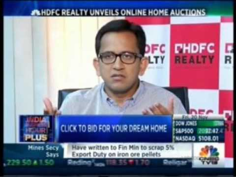 Mr. Vikram Goel CEO, HDFC Realty  Unveils Online Home Auction