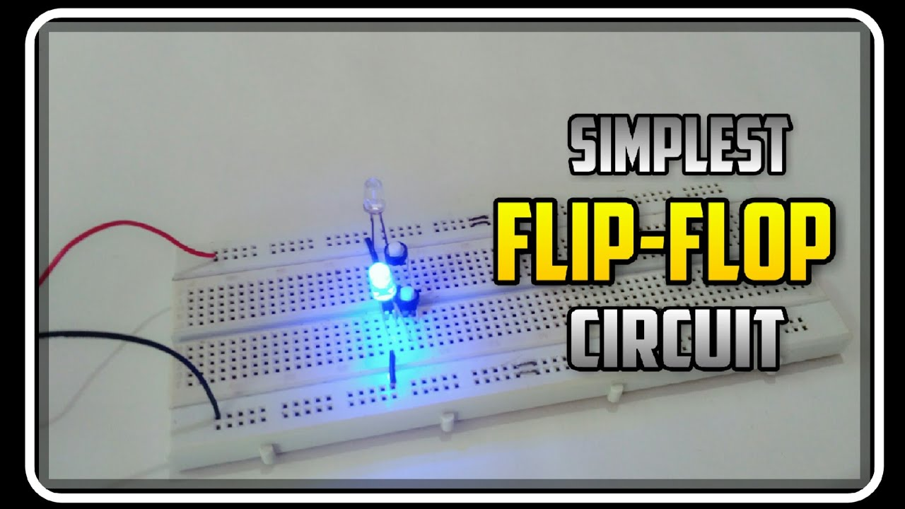 simplest flip flop circuit using 555 timer ic [ 1280 x 720 Pixel ]
