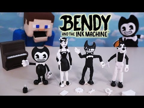 Bendy And The Ink Machine Action Figures Series 1 BATIM PhatMojo Stop Motion Unboxing Plush