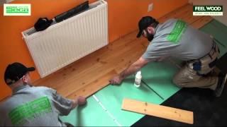 Pokládka masivní dřevěné podlahy FeelWood - plovoucí způsob na ocelové sponky