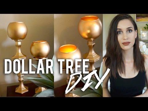 Dollar Tree DIY - Beautiful Candle Holders