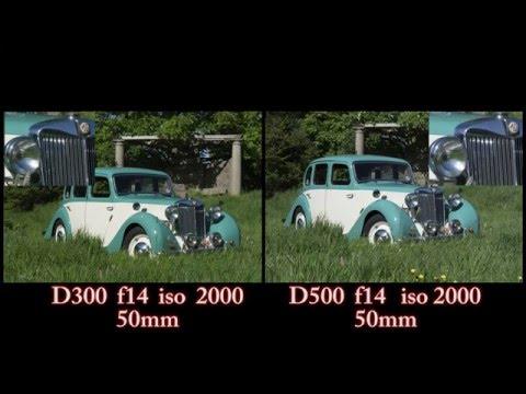 Nikon D300 vs Nikon D500 photo comparison