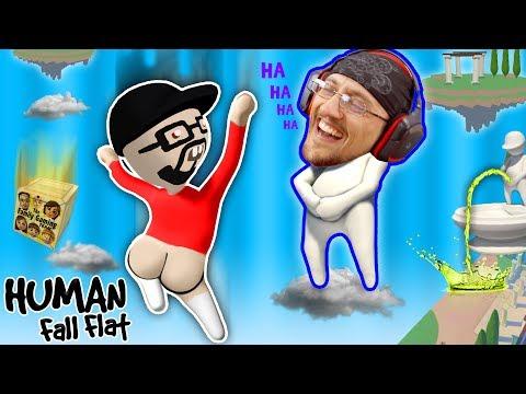 FUNNIER w/ BUTTS!  Super Weird Game: HUMAN FALL FLAT!  FGTEEV FLOPPY NERD Gameplay