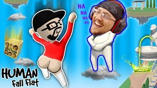 FUNNIER w/ BUTTS!  Super Weird Game: HUMAN FALL FLAT!  FGTEEV FLOPPY NERD Gameplay