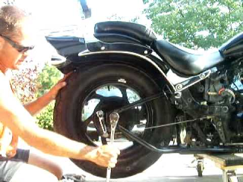 how to change rear tire on h