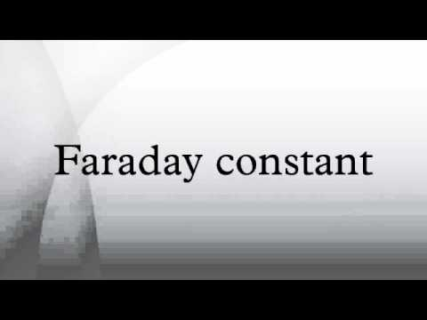 Faraday constant - YouTube