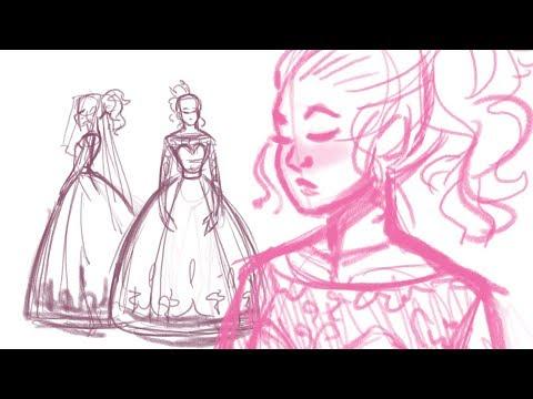 Drawing my Dream Wedding Dress | + My Health Is Struggling