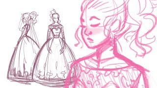 Drawing my Dream Wedding Dress | I can't keep doing this, taking a little break