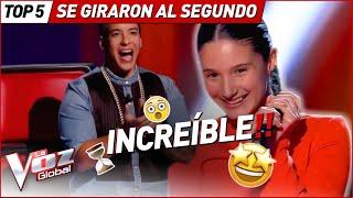 GIRARON sus sillas AL INSTANTE por sus voces en La Voz Kids